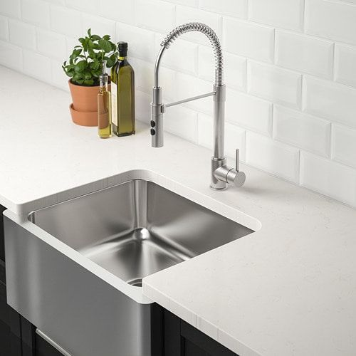 Ikea Apron Front Sink.Ikea Bredsjon Under Glued Stainless Steel Apron Front Sink