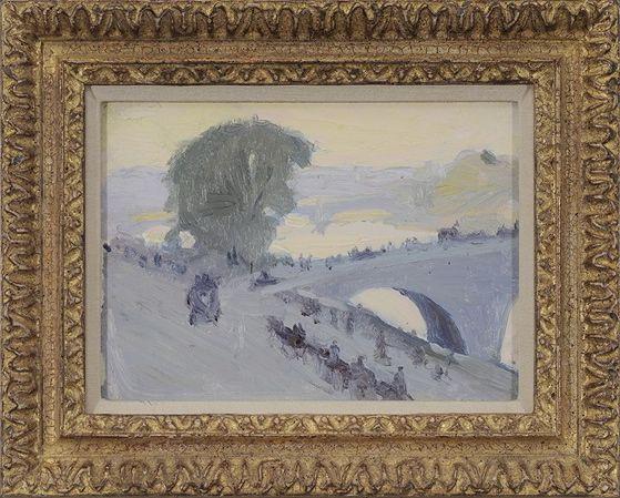 Gertrude Fiske (1879-1961) : Bridge over the Seine, Paris. n. d.