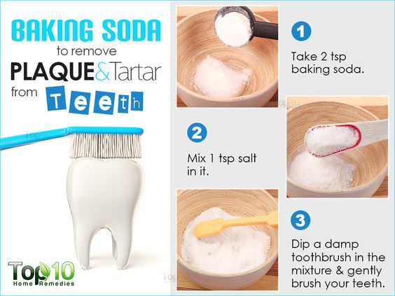baking soda to remove paque and tartar from teeth