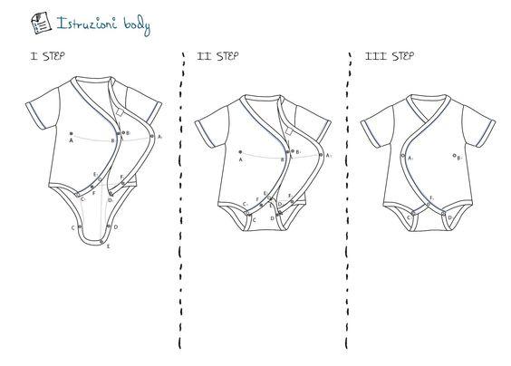 Le istruzioni per indossare i kimono Frac Bodibù