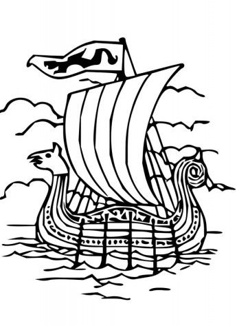 viking ships coloring pages - photo#18