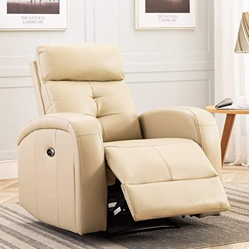 Best Seller Anj Electric Recliner Chair Oversize Breathable Bonded Leather Extra Wide Electric Power Recliner Usb Charge Port Home Theater Seating Bedroom In 2020 Home Theater Seating Living Room Recliner