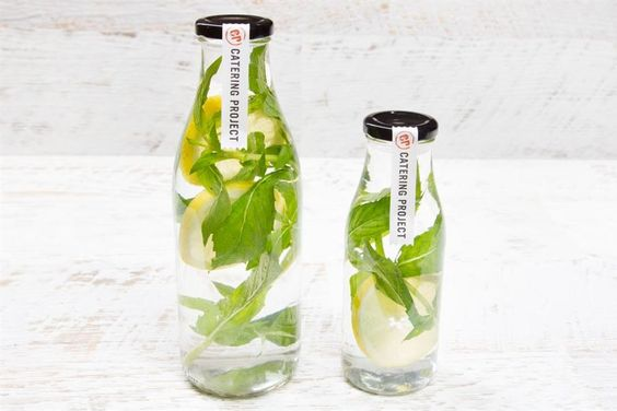 Spring water with Fresh Mint & Lemon