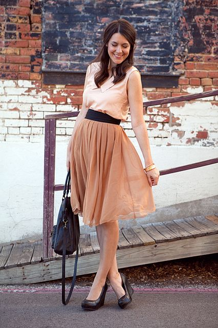 Love flowy skirts for summer!