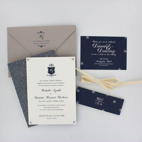 Invitaciones de boda, invitación de la boda floral, negro y oro, rosas, modernos, invitación de la boda Urban Chic - Legado de ejemplo