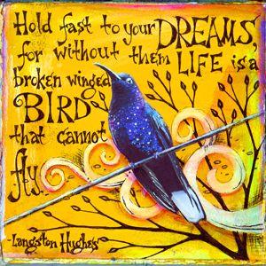 Dreams | �2011 Vickie Hallmark | art journal mixed media