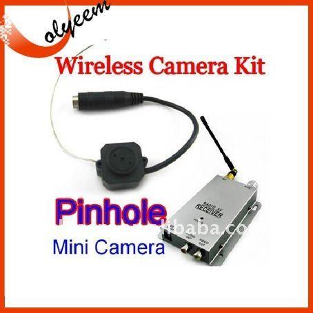 Wireless Nanny Security Cam Pinhole Mini Camera 1.2Ghz receiver ,wireless camera kit $1~$20