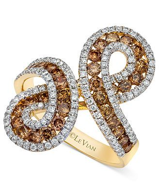 Le Vian 14k Gold Chocolate (1-1/10 ct. t.w.) and White Diamond (1/2 ct. t.w.) Infinity Ring