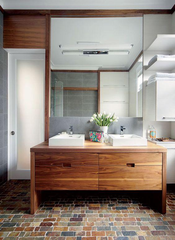 Cinq inspirations lavabos pour r nover votre salle de for Renover lavabo