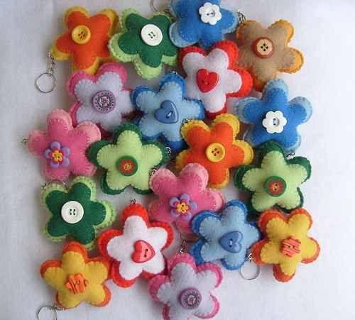 chaveiro - flores