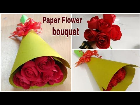 How To Make Paper Rose Flower Bouquet Diy Paper Craft Youtube In 2020 Paper Bouquet Diy Paper Roses Paper Roses Bouquet