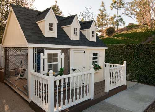Tap for more custom dog houses and adorable puppies! #doghouse