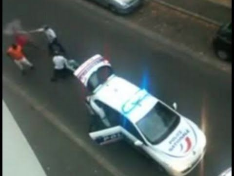 [HORRIFYING MOMENT] French policeman unleashes uncontrollable brutality ...