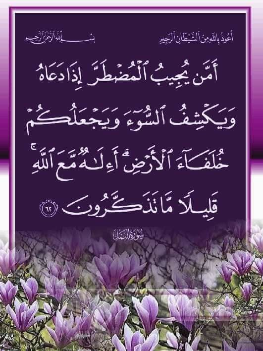 An Naml 62 Islamic Quotes Islamic Pictures Quran Tilawat