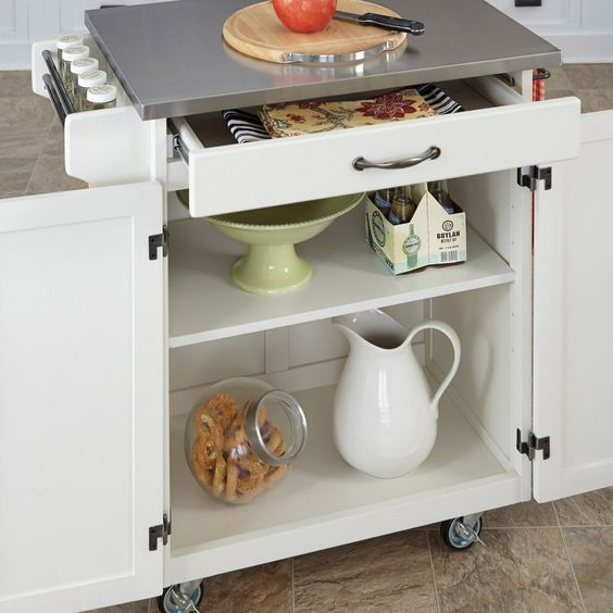 Home Styles Design Your Own Small Kitchen Cart - Design the kitchen cart that matches your decor and meets your culinary needs. First select a countertop that works for you: Wood, Stainless Steel, Granite,...
