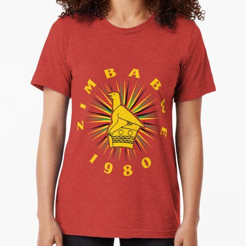 Zimbabwe Independence Flag Bird Tri Blend T Shirt By Chitoro In 2020 T Shirts For Women Classic T Shirts T Shirt