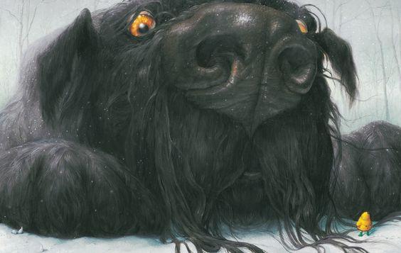 Black Dog by Levi Pinfold I LOVE THIS ILLUSTRATION!