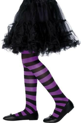 White Opaque Hold Ups with Blood Stain Print Halloween Fancy Dress Accessory