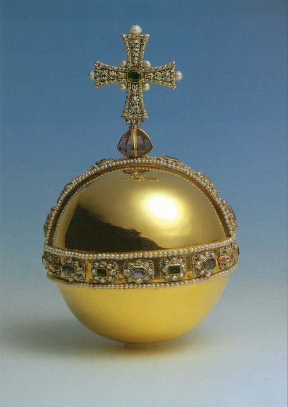 The Sovereign's Orb. Crown Jewels.   The Tower of London ...