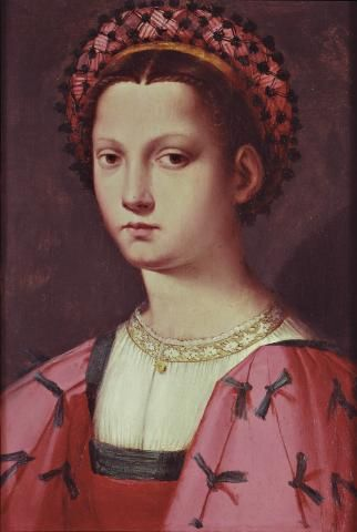 First half of the 16th century Andrea Piccinelli (Andrea del Brescianino) - Italian Young Lady
