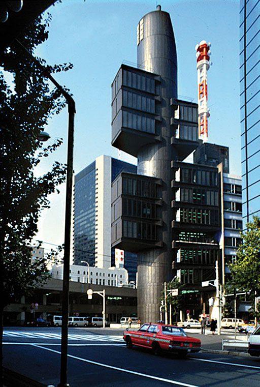 Modern Architecture Tokyo shizuoka press and media building. 8-3-7 ginza, chuo-ku. architect