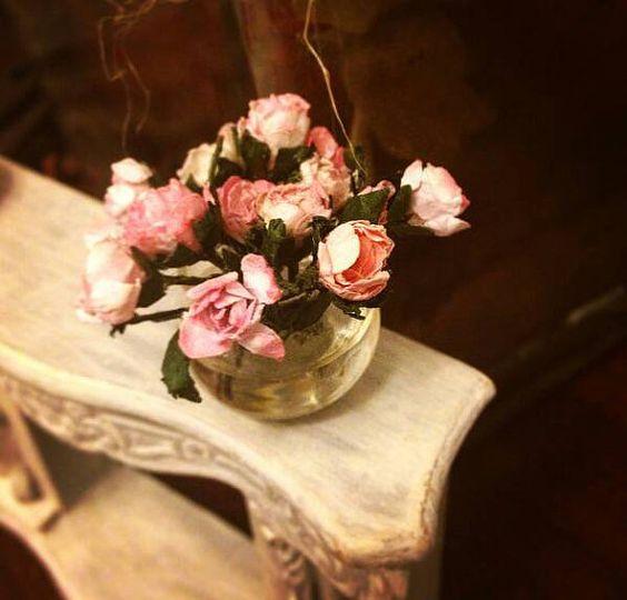 Bouquet roses con jarron por minismarillum en Etsy