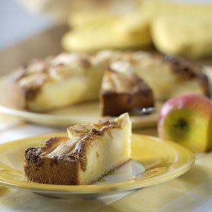 Äpfel schälen, vierteln, Kerngehäuse entfernen. Apfelviertel fächerförmig einschneiden. Mit Zitronensaft beträufeln. Puderzucker ohne Fett schmelzen,...