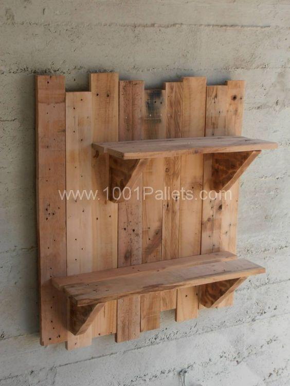 Pallet Wall Shelves • Pallet Ideas | Pinterest | Gardens, Garden