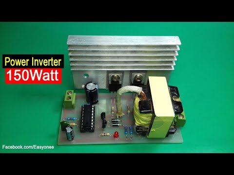How To Make Inverter 150 Watt Using Tl494 Circuit Diagram Pcb Youtube Circuit Diagram Electronics Projects Diy Circuit