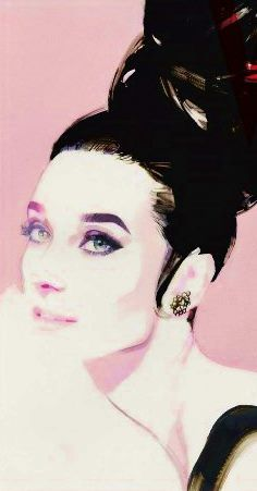 A wonderful portrait of Audrey Hepburn (in 1963) by David Downton for Vanity Fair magazine, edition of...