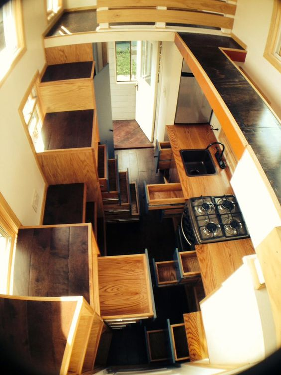 Tiny House Closed In Porch And Loft On Pinterest