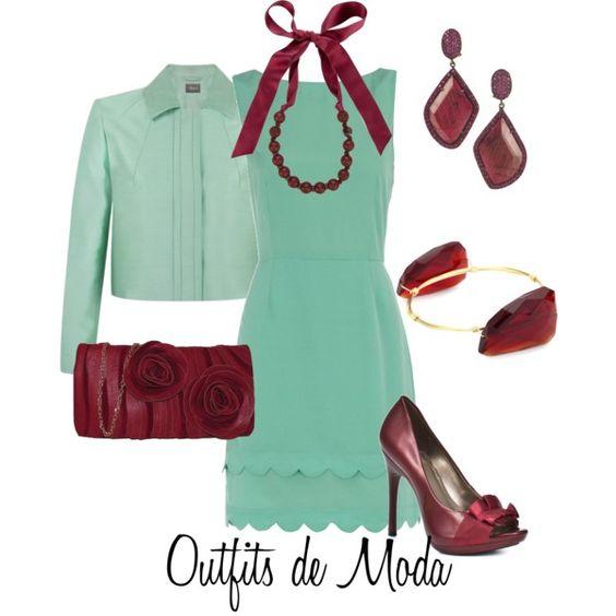 """""""Menta y Ciruela"""" by outfits-de-moda2 on Polyvore"""