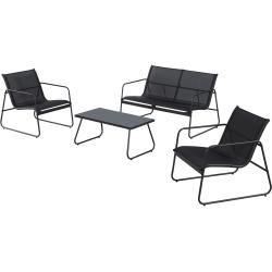 Sofa Set Cuba 2 Sessel 1 Sofa 1 Tisch Schwarz Danisches
