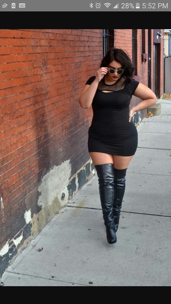 Thigh High Boots For Plus Size Legs - Cr Boot