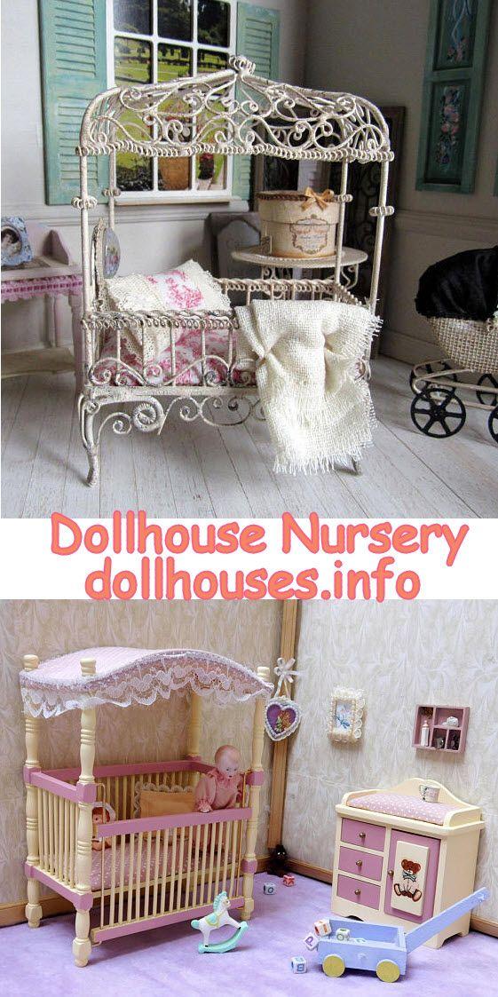 1:12 Dollhouse Miniature Furniture Baby Nursery Bedroom Set Home Decor
