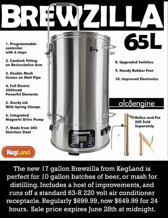 Flash Sale Robobrew Brewzilla 17 Gallon All Grain Brewing System Save 50 All Grain Brewing Brewing Beer Making Equipment