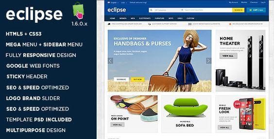 Eclipse - Responsive Multipurpose Prestashop Theme (eCommerce, PrestaShop, Shopping)