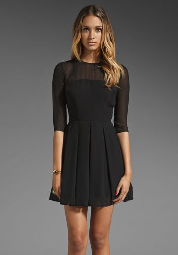 Rylan Sheer Shell Pleated Dress - Simple- Sexy and Coupe