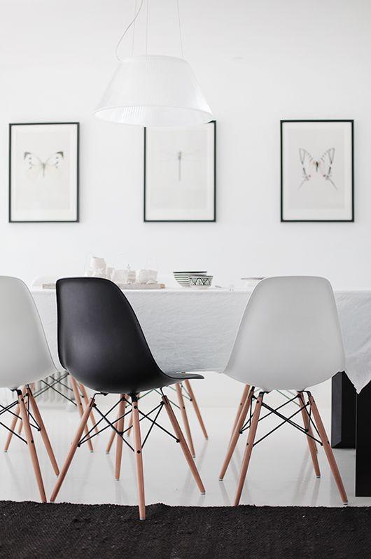 Schwarz-Weiß. #KOLORAT #Wandfarbe #Wandgestaltung #Essen #Weiß