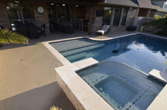28102 Harper Creek Lane, Katy, TX: Photo How about a little exercise with laps in the pool?....or just enjoy a relaxing soak in your in your spa .........