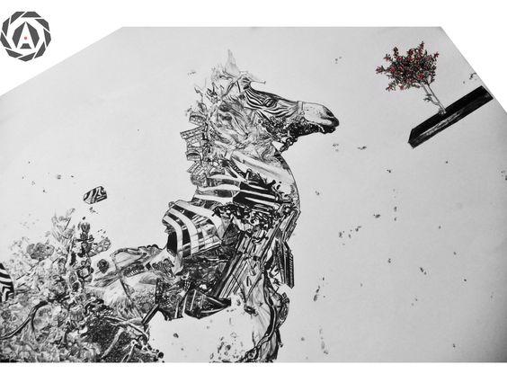 Zebra Psicodélica Detalle by Agustín Encina