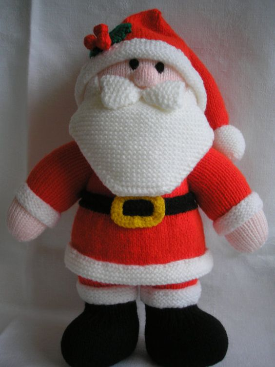 Knitted Father Christmas Pattern Free : Knitted dolls, Hands and Dolls on Pinterest