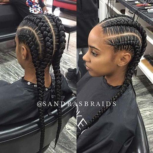 Trendy Four Cornrow Braids Cornrowbraids Cornrow Hairstyles African Braids Hairstyles Braided Hairstyles
