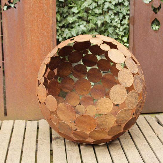deko kugel rost d 55 cm von atelier51 auf ro liny plants pinterest d. Black Bedroom Furniture Sets. Home Design Ideas