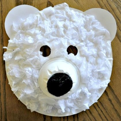 Polar bear masks for the classroom pinterest masken - Winter basteln kindergarten ...