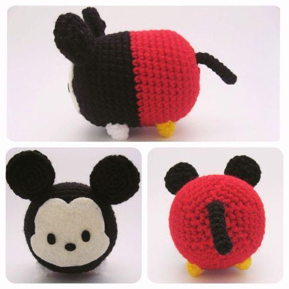 Tsum Tsum Disney Amigurumi : Mickey Mouse Tsum Tsum ~ #amigurumi #crafts #crochet # ...