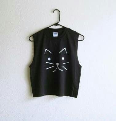 Cat face tshirt design