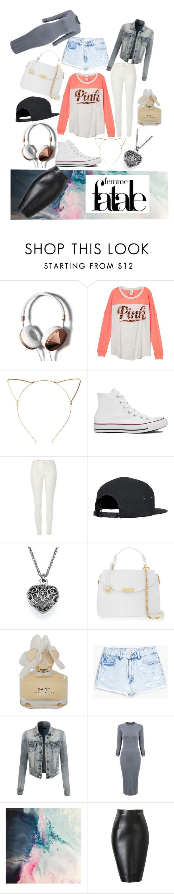 """""""The essentials (to busy to make a good one sorry lol)"""" by lltakeachancell ❤ liked on Polyvore featuring Abercrombie & Fitch, BP., Converse, River Island, Versace, Marc by Marc Jacobs, MANGO and LE3NO"""