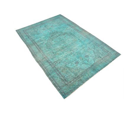 Tapis laine, turquoise – 285*192