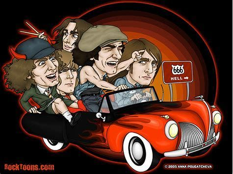 Image Result For Ac Dc Thunderstruck Wallpaper Cartoon Pics Ac Dc Rock Acdc